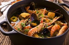 Authentic Bouillabaisse - The French Fisherman s Stew Seafood Stew fish shrimp clam mussel lobster potato saffron parsley tomato paste fennel Italian Seafood Stew, Seafood Soup, Seafood Dishes, Shrimp Recipes, Fish Recipes, La Bouillabaisse, French Dishes, French Food, Food Now