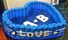 Origami Paper Art, Baby Shawer, Saint Valentine, Quilling, Birthday Cake, Handmade Gifts, Desserts, Crafts, Diy