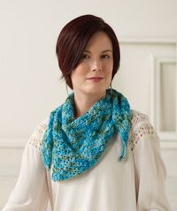 Breezy Bay Shawl - An easy, lacy #shawl pattern from Love of #Crochet magazine