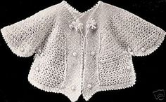 Vintage-Antique-Crochet-PATTERN-to-make-Baby-Sacque-Coat-Sweater-Jacket-$6.991918