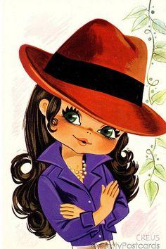 ///70's Big Eyed Girl