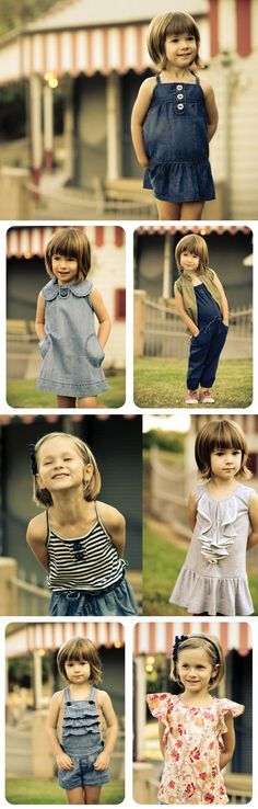 Free  patterns for kid clothes.