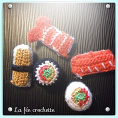 Mes premiers #sushis au #crochet #Padgram