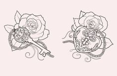 Tattoo designs by Martine Strøm, via Behance