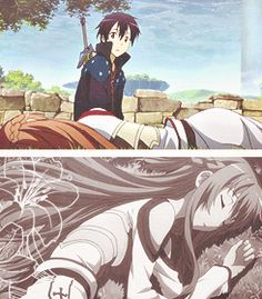 Season 1 - Kirito and Asuna sleeping Day Off sword art online