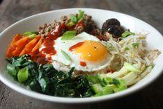 Korean mixed rice dish: Bibimbap