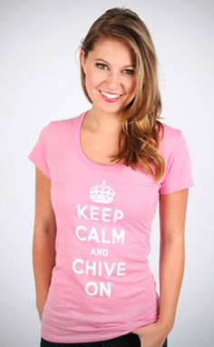 KCCO Pink. Chivette keep calm chive on shirts cannot contain my excitement