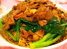 Cantonese Pan Fried Noodles - my favorite meal