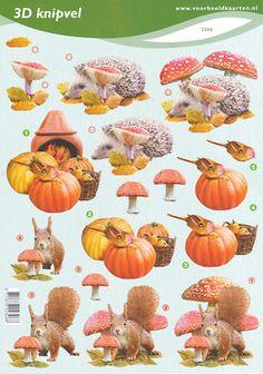 Decoupage sheet Autumn
