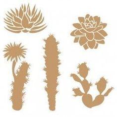 Stencil Deco Floral 034 Cactus