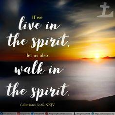 If we live in the Spirit, let us also walk in the Spirit. Galatians 5:25 NKJV