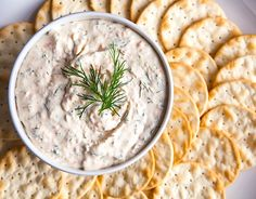 Smoked Salmon Dip: perfect for beer and bubbly! #superbowl