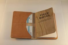 Leather FieldNotes Notebook & Card holder, FieldNotes book included, Notebook Cover
