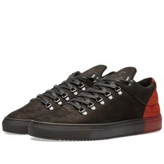 Filling Pieces Mountain Cut Sneaker (Black & Red Neets)