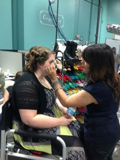 TOP SECRET TRIP...Origami Owl NEST. More Hints! Samantha getting her hair and makeup done for the Top Secret Photo Shoot