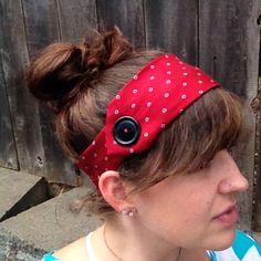 Red Necktie Headband by paisleyunderground on Etsy, $9.00