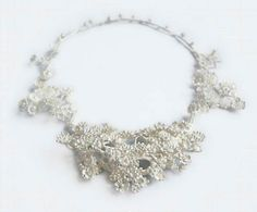 Nora Rochel necklace 'innocent abundance' 2013 -whitened   silver