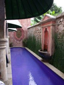 narrow purple pool - but I would use a completely Different color!