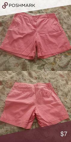 J Crew broken in chino shorts Hot pink 100 percent cotton size 10 J. Crew Shorts Bermudas