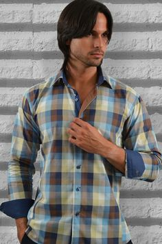 """Like"" this Via Uomo men's shirt? Find this Via Uomo shirt at www.FashionMenswear.com and www.GiovanniMarquez.com: #mensshirt #menswear #mensfashion #menstyle #fashion #fashionmenswear #viauomo"