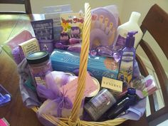 spa themed gift basket