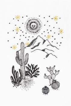 Embroidery Patterns Free, Star Patterns, Embroidery Stitches, Hand Embroidery, Cross Stitch Patterns, Embroidery Designs, Mandala Motif, Muster Tattoos, Under The Stars