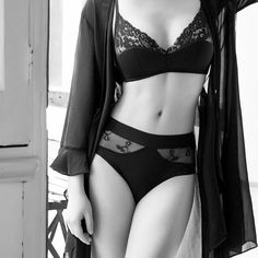 Sexy Solid Color Strap Lace Underwear Lingerie Set – MegaIntl