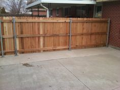 reuse of chain link fence posts