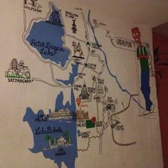 This super cool map right in the entrance quite shows must visit places in and around Udaipur.