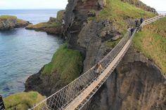 Puente colgante Carrick a Rede en Irlanda del Norte
