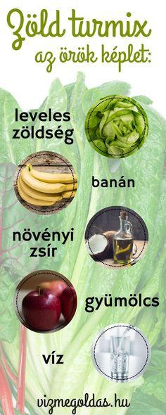 Fogyókúrás receptek - Az örök képlet, amire a zöld turmix elkészítéséhez szükséged van