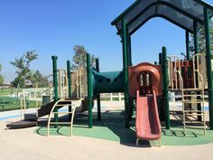 One of the many slides on the playground for little kids at Mountain View Park in Eastvale, California. http://youreastvalerealtor.com/eastvale-parks/