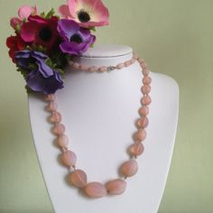 Vintage Art Deco Pink Opaline Glass Bead by Thecherishedweb, £32.00