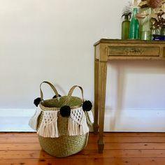 Handmade macramé basket #homedecor Basket, Handmade, Diy, Home Decor, Hand Made, Decoration Home, Bricolage, Room Decor, Do It Yourself