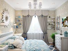 Спальня. Интерьер однокомнатной квартиры в ЖК «Московский квартал»