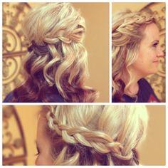 bridesmaid hair wedding hair