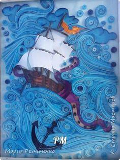 Картина панно рисунок Квиллинг мой кораблик Бумага Бумажные полосы