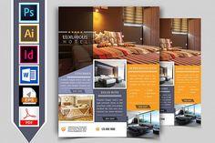 Hotel Flyer Template by Imagine Design Studio on Poster Sport, Poster Cars, Poster Retro, Poster Design, Flyer Design, Graphic Design, Poster Festival, Hotel W, Montserrat Font