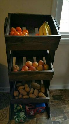 In small pantry, use for canned goods too