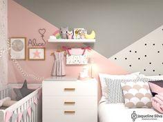 Baby Boy Room Decor, Baby Bedroom, Room Decor Bedroom, Girls Bedroom, Little Girl Rooms, Kids Room, Mini Cama, Instagram, House