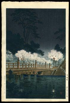 Tsuchiya Koitsu - Benkei Bridge at Night - 1932