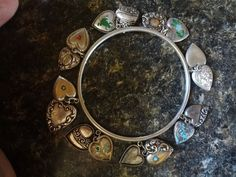 Vintage Sterling Silver Puffy Heart Charm Bracelet: 16 Antique Victorian Hearts  | eBay