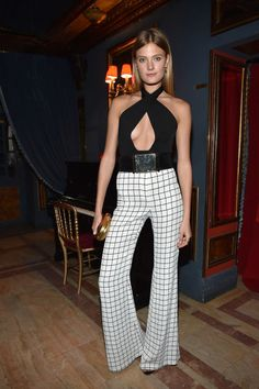 Constance Jablonski. See all the celebrities' looks at the Balmain fall 2015 after party.