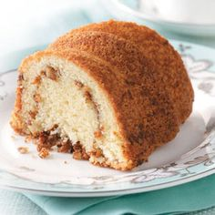 Sour Cream Bundt Coffee Cake Recipe- Recipes This yummy cake is so moist, you won't even need the cup of coffee! Make it for your next get-together—your guests will thank you. Baking Recipes, Cake Recipes, Snack Recipes, Dessert Recipes, Bisquick Recipes, Baking Ideas, Yummy Recipes, Cupcakes, Cupcake Cakes