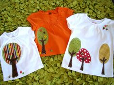 Appliqued Trees with buttons