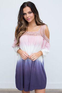 NWT Knox Rose Women/'s Dip Dye Print Sleeveless Sundress Sun Dress Blue Ombre