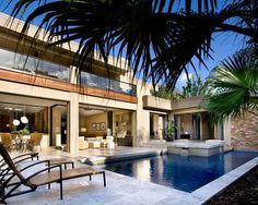 Decoration pool house piscine