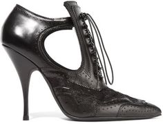 Givenchy - Cutout Ankle Boots In Black Leather And Lace - IT35