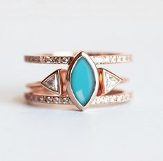This is THE engagement ring for lovers of bright colors + unique designs.