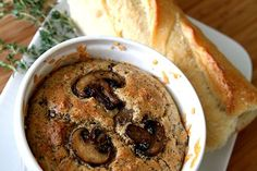 Sformato di Funghi -- mushroom souffle. A light, airy and beautiful way to enjoy mushrooms.